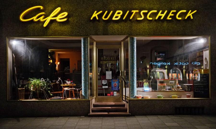 Cafe Kubitscheck, München, Nachtaufnahme